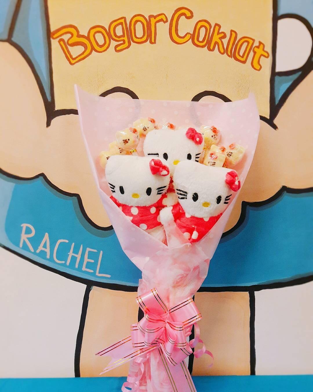 Buket Boneka Dan Coklat Hello Kitty Bogor Snack 1