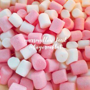 marshmallow pink putih