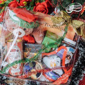 parcel coklat natal