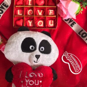hadiah coklat valentine dan boneka