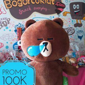 boneka teddy brown line