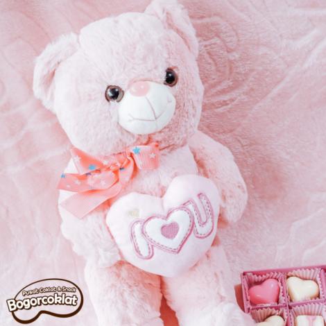 boneka teddy i love u