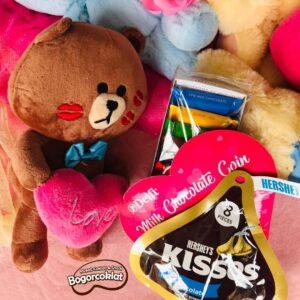 parcel valentine brown kisses